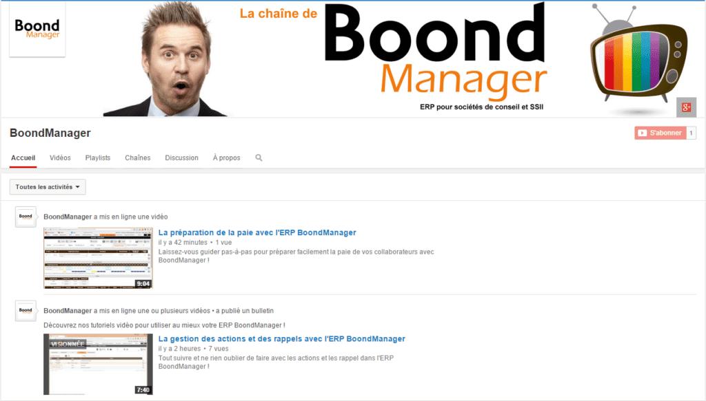 chaîne YouTube BoondManager