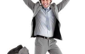 Illustration homme qui saute de joie