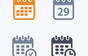Calendars - Carbon IconsA set of 4 professional, pixel-aligned i